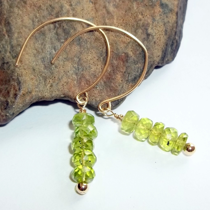 Peridot Earrings by earthegy