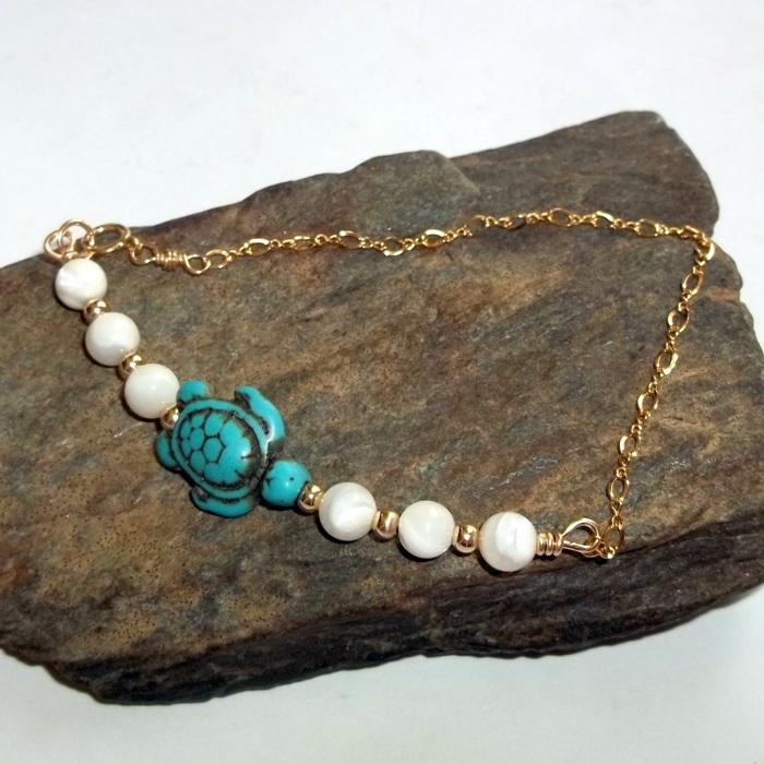 turtle, bracelet, gold, gemstone, symbolism, totem
